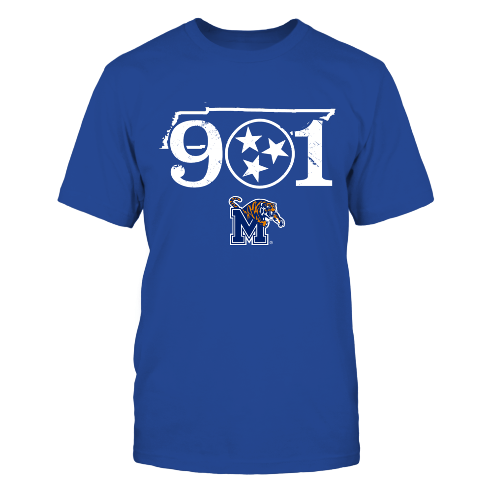Memphis Tigers - 901 state outline Front picture