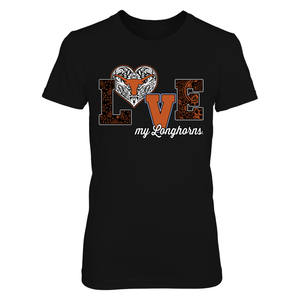 Texas Longhorns - Love my team - Pattern heart Front picture