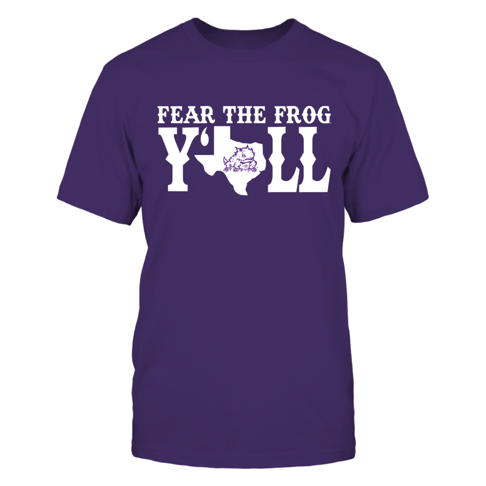 TCU Horned Frogs - Y'all - State Map Front picture