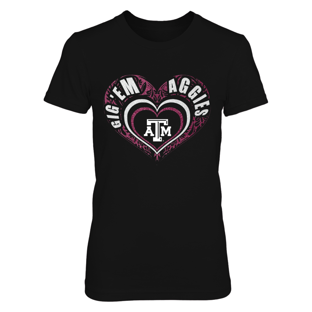Texas A&M Aggies - Team Name Slogan Heart Front picture