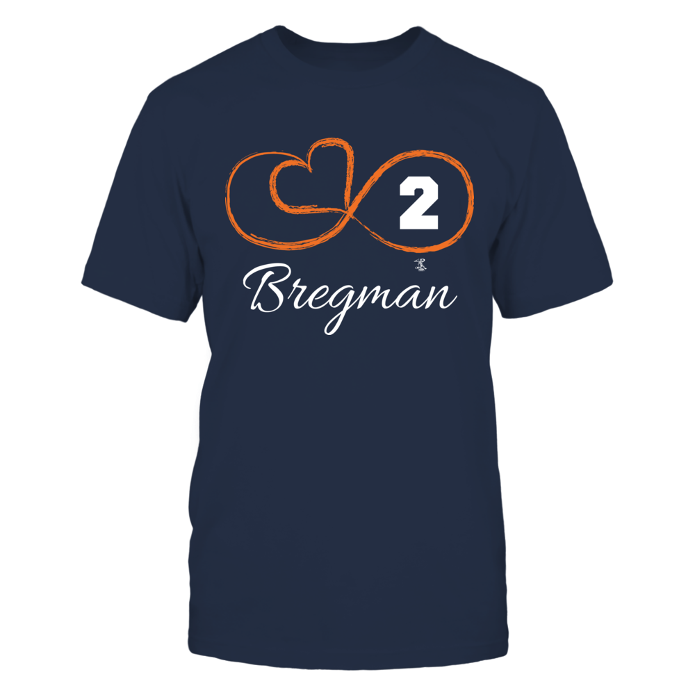 Alex Bregman - Infinity Heart Player Number Front picture