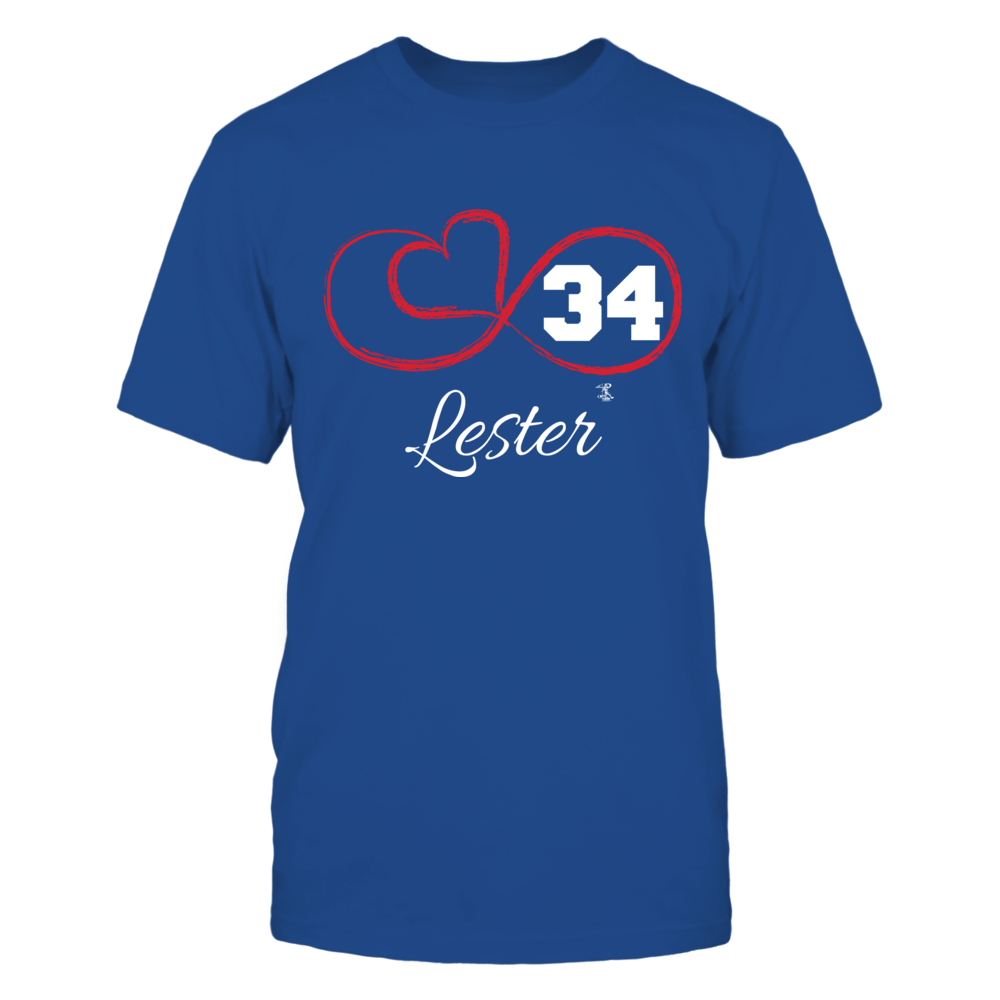 Jon Lester - Infinity Heart Player Number Front picture