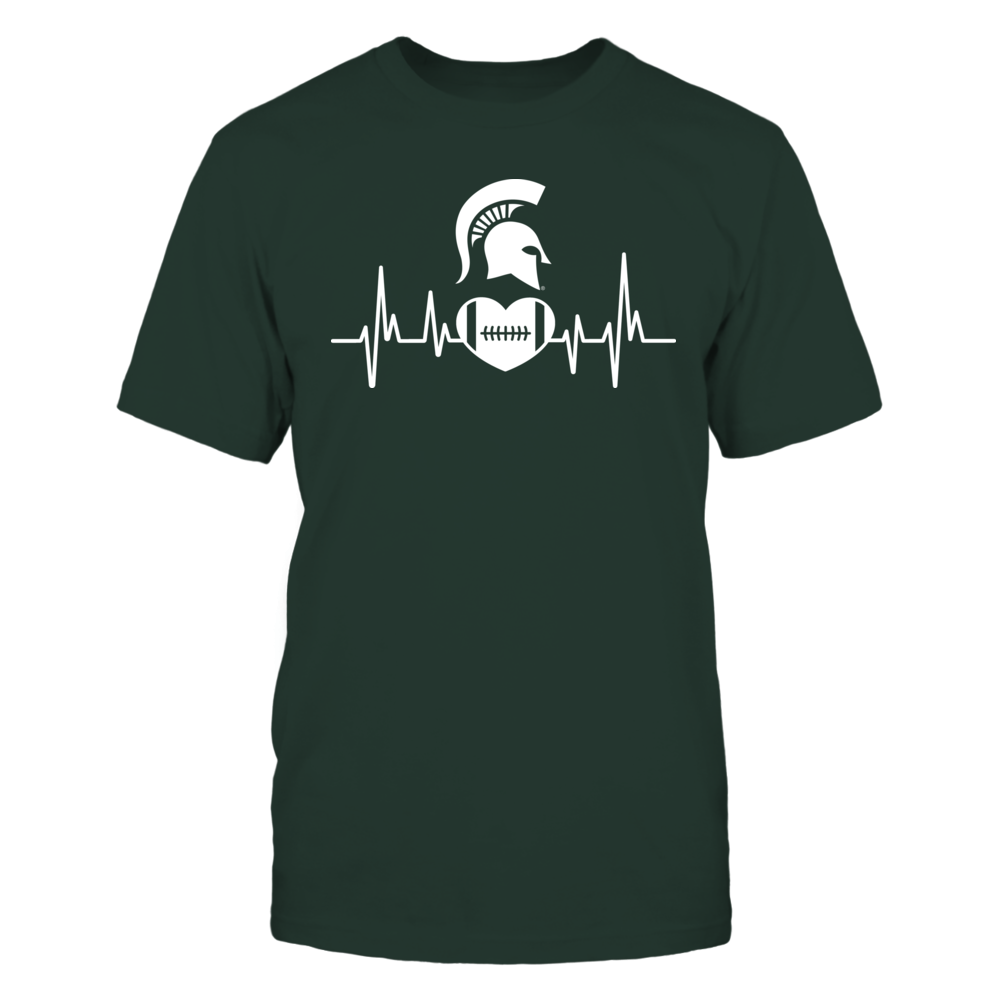 Michigan State Football Heartbeat Front picture
