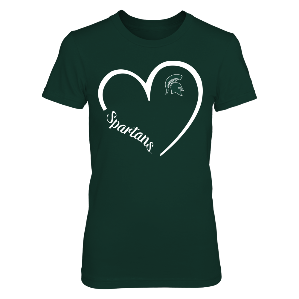Michigan State Spartans - 3/4 Heart Front picture