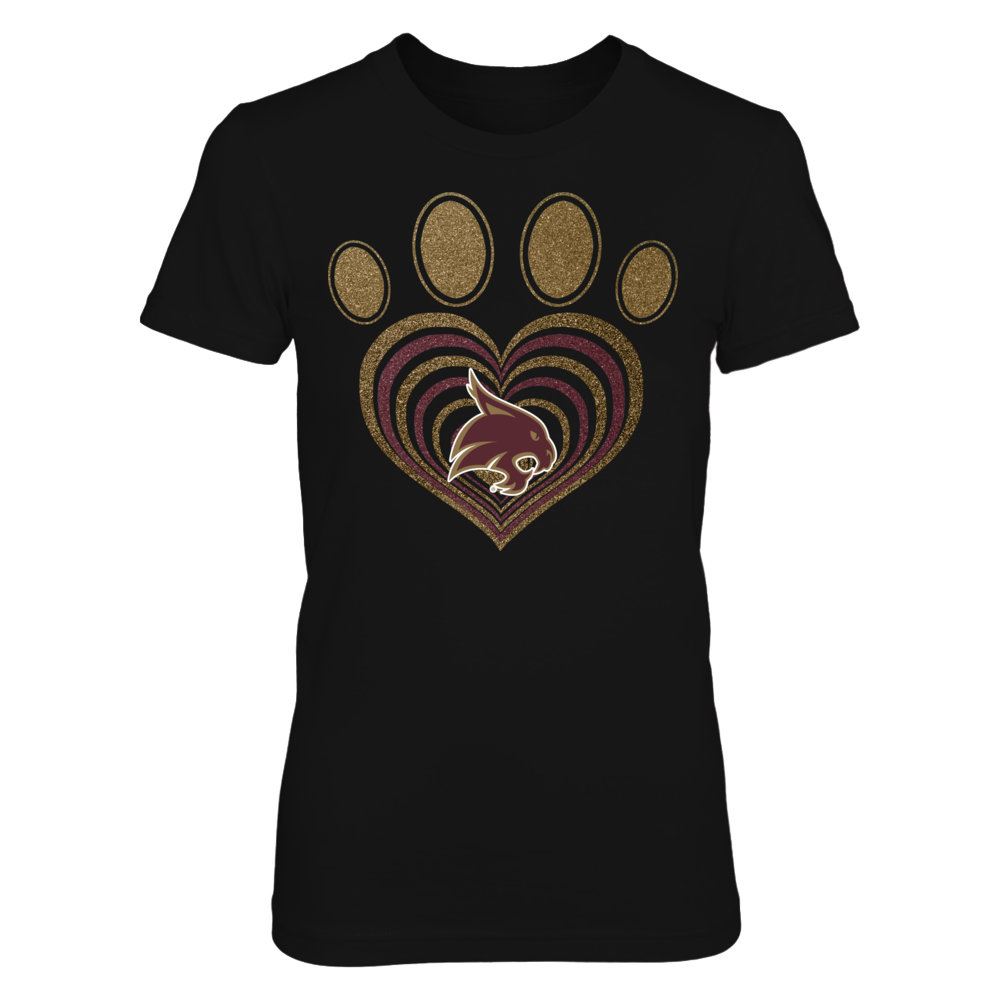 Texas State Bobcats - Paw hurricane heart Front picture