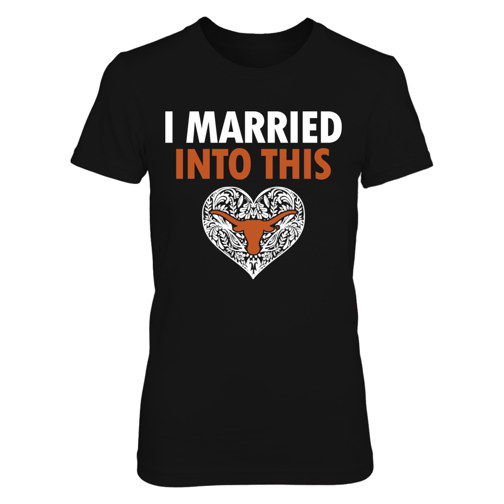 Texas Longhorns - Married into this - Pattern heart Front picture