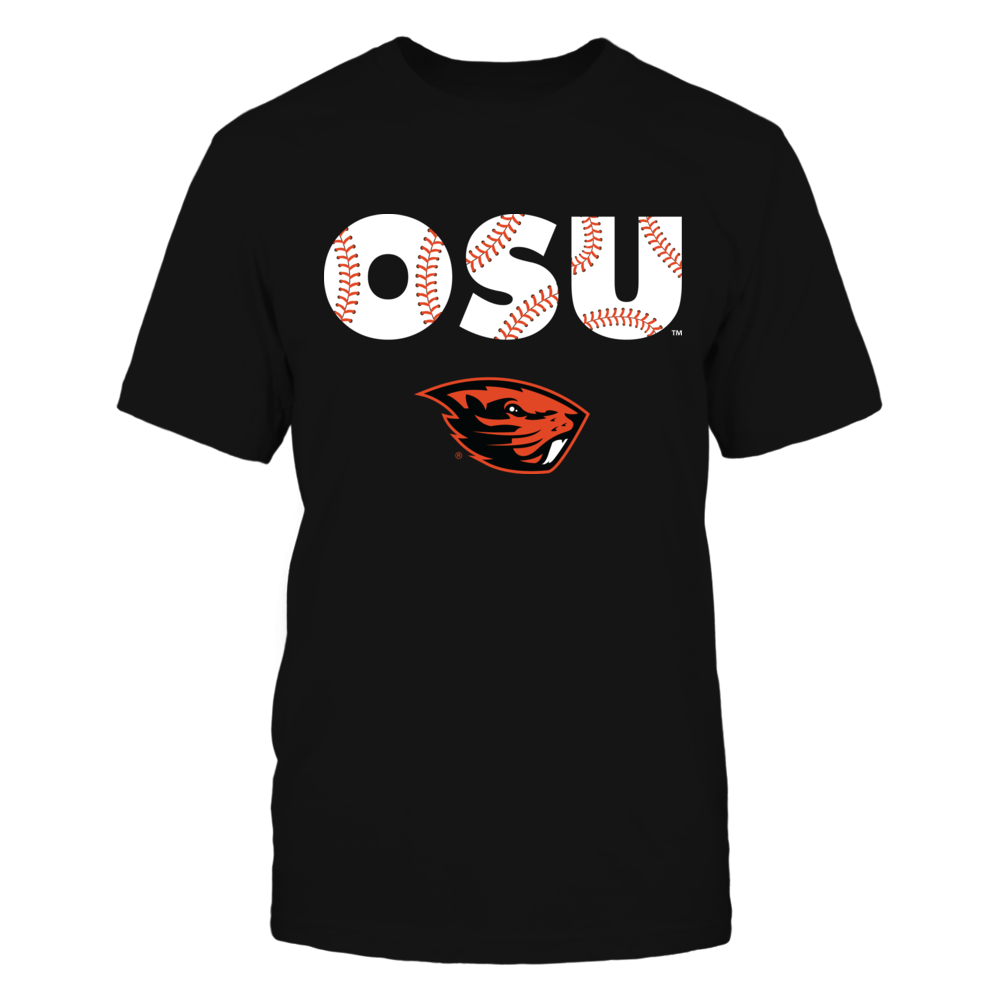Oregon State Beavers - Baseball seams pattern letters Front picture