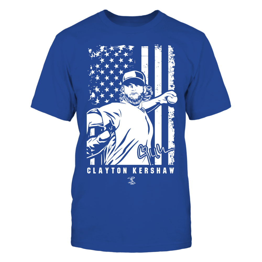 Player Illustration Flag - Clayton Kershaw Front picture