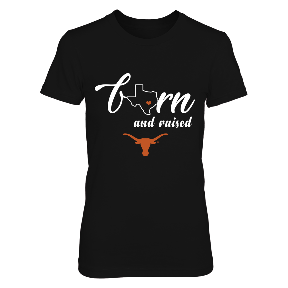Texas Longhorns -  Born and Raised - State Outline Front picture