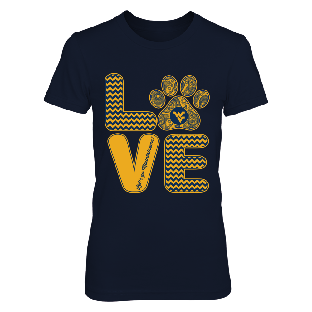 West Virginia Mountaineers - Love - paw Front picture