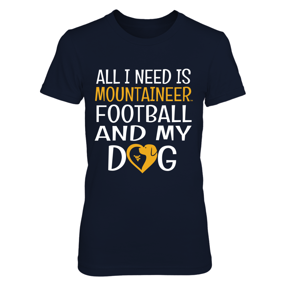 West Virginia Mountaineers - All I need - Mascot Heart - Dog Front picture