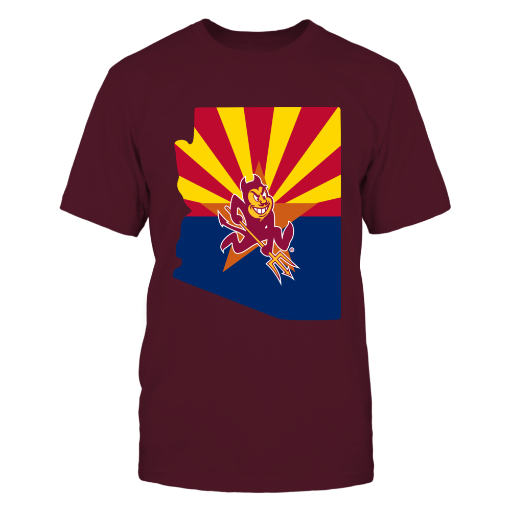 Arizona State Sun Devils - State map logo Front picture