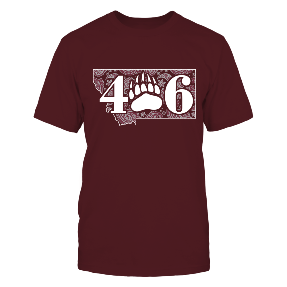 Montana Grizzlies - Paisley State Map - Area code Front picture