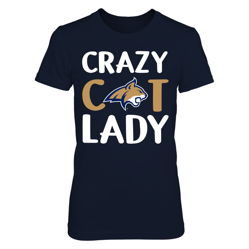 Montana State Bobcats - Crazy Lady - Logo Front picture