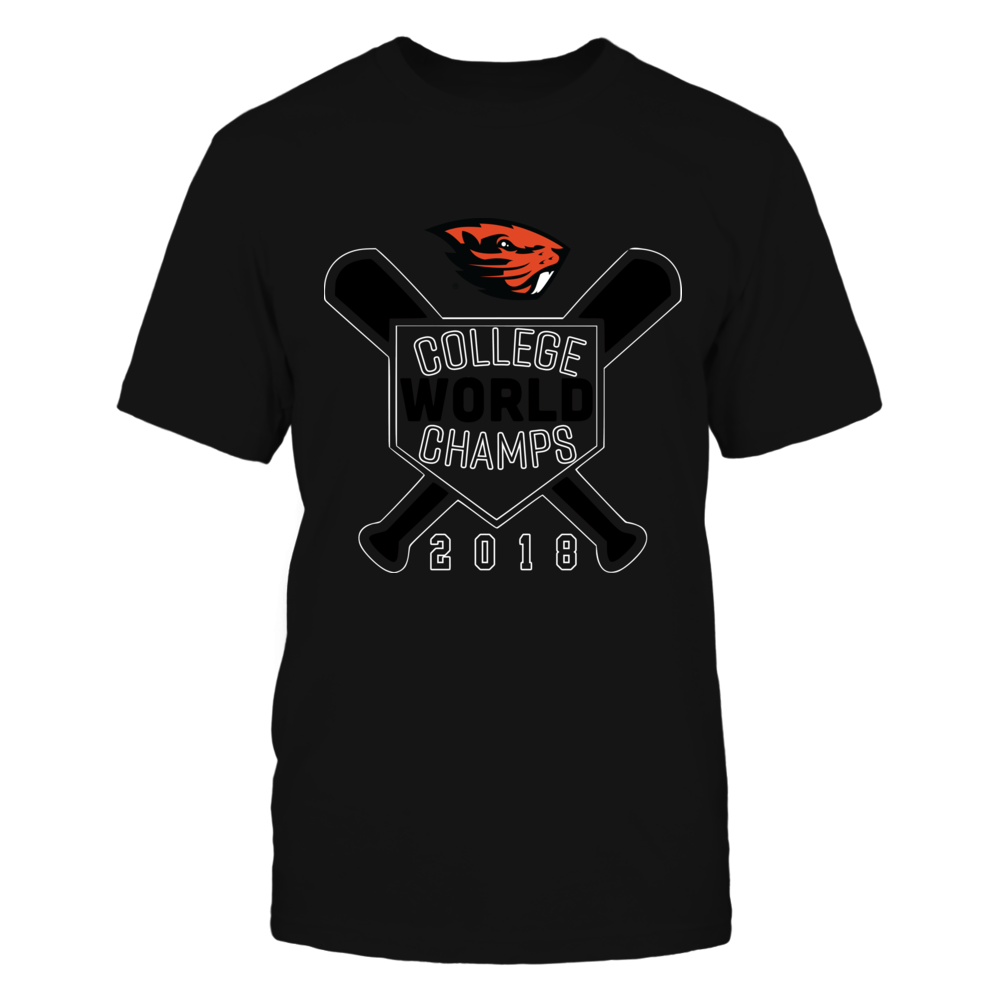 Oregon State Beavers -  2018 Baseball College World Champs! - Orange shirt Front picture