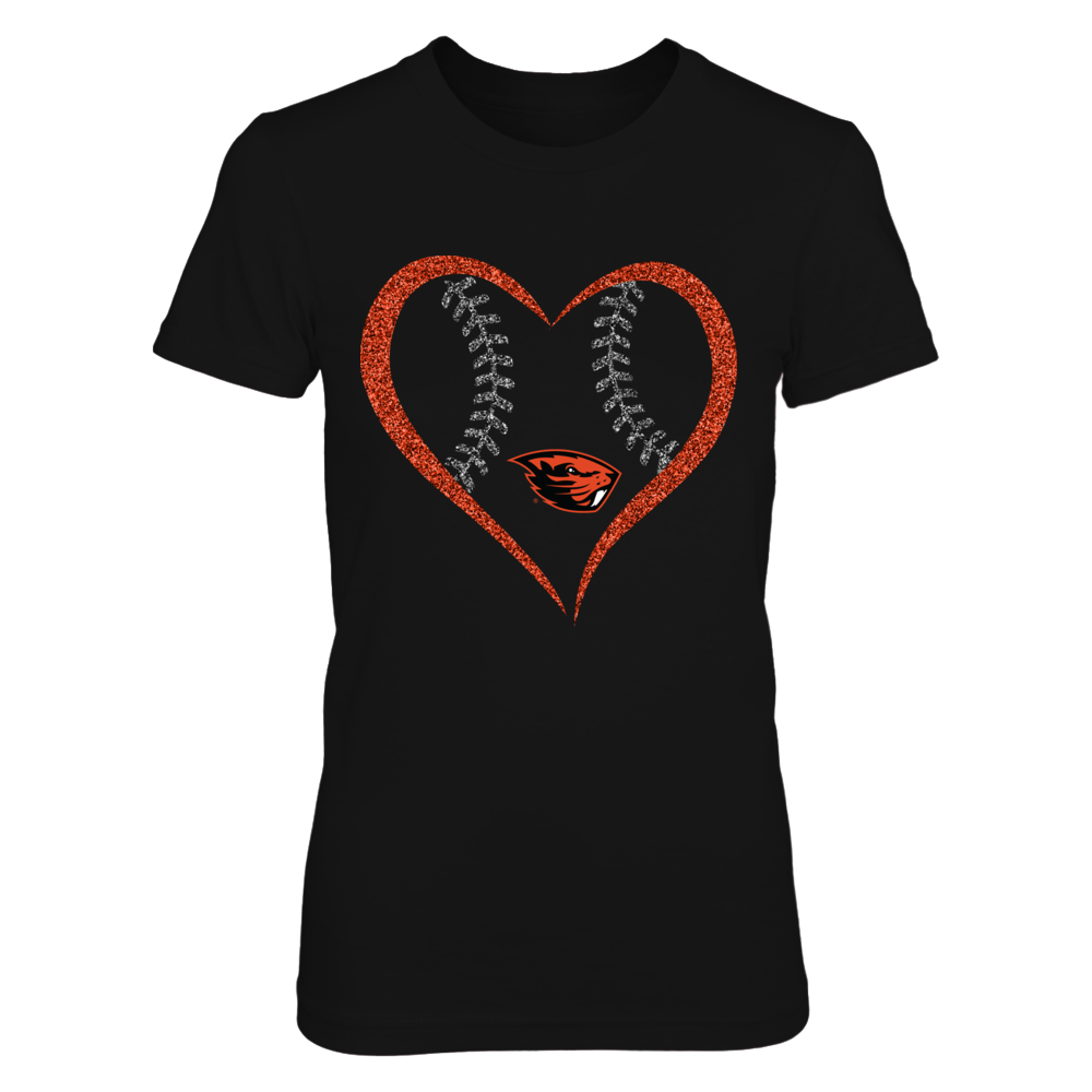 Oregon State Beavers -  Heart Baseball Front picture
