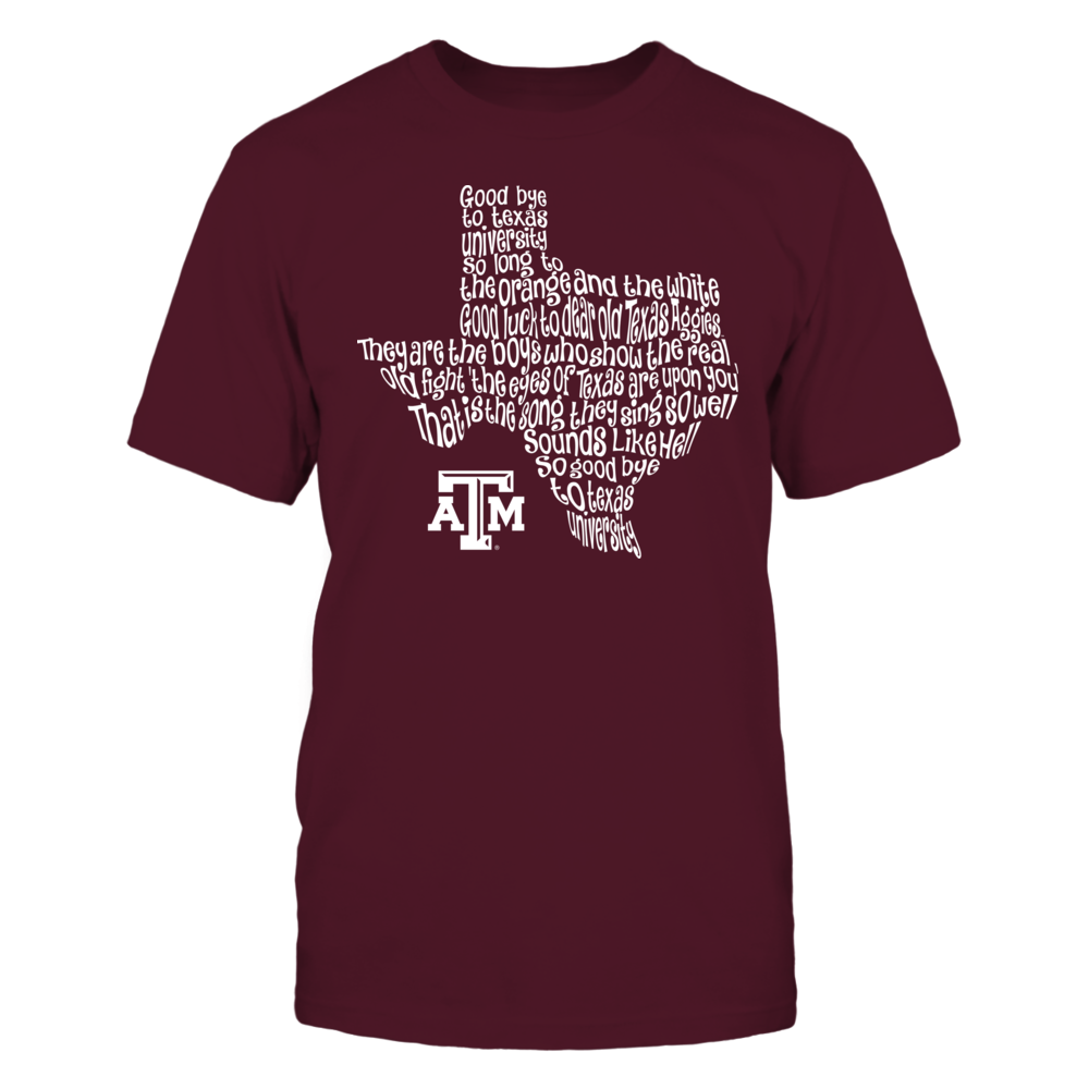 Texas A&M Aggies - Fight Song Inside State Map  - IF-IC13-DS75 Front picture