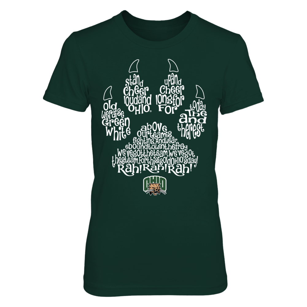 Ohio Bobcats - Fight song inside paw Front picture