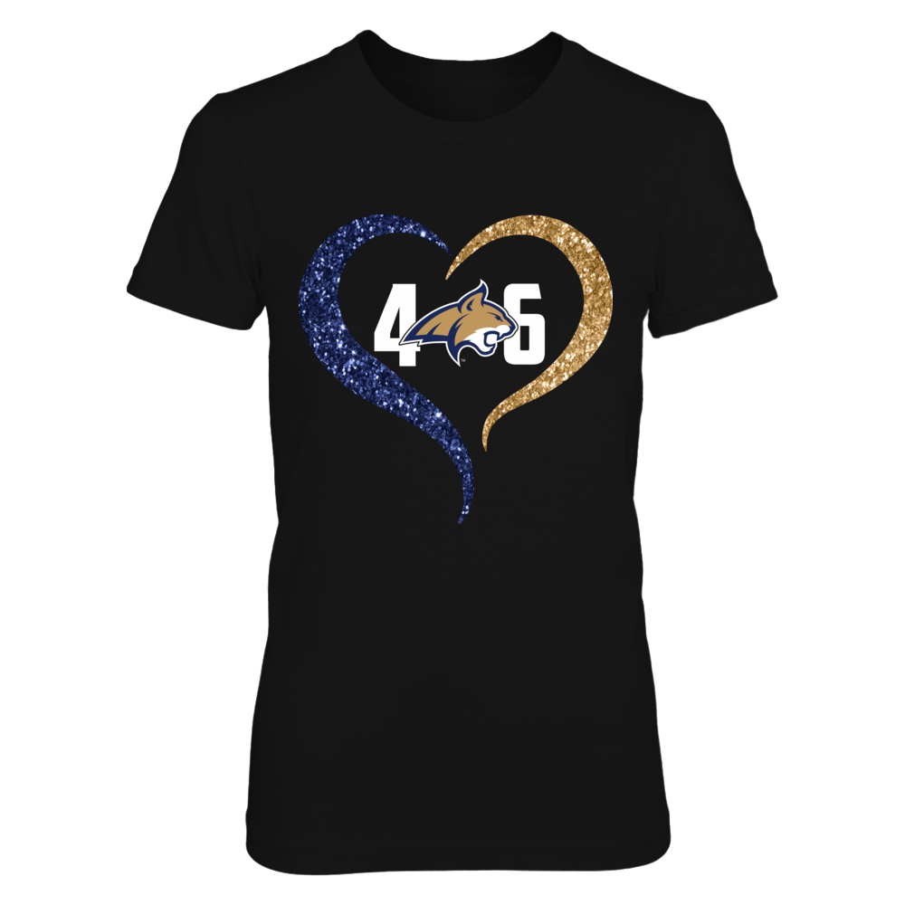 Montana State Bobcats - Half heart - Area code Front picture