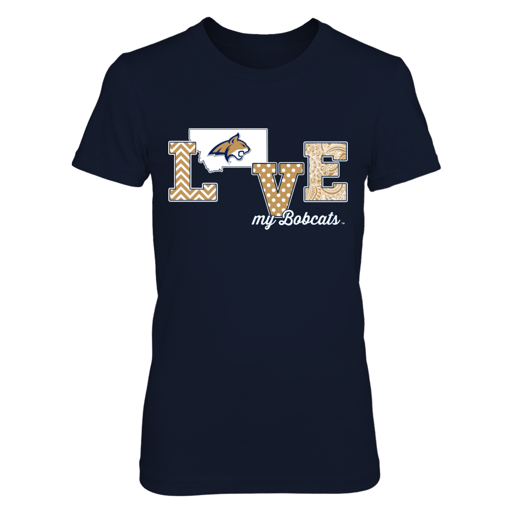 Montana State Bobcats - Love My Team - Logo State Front picture
