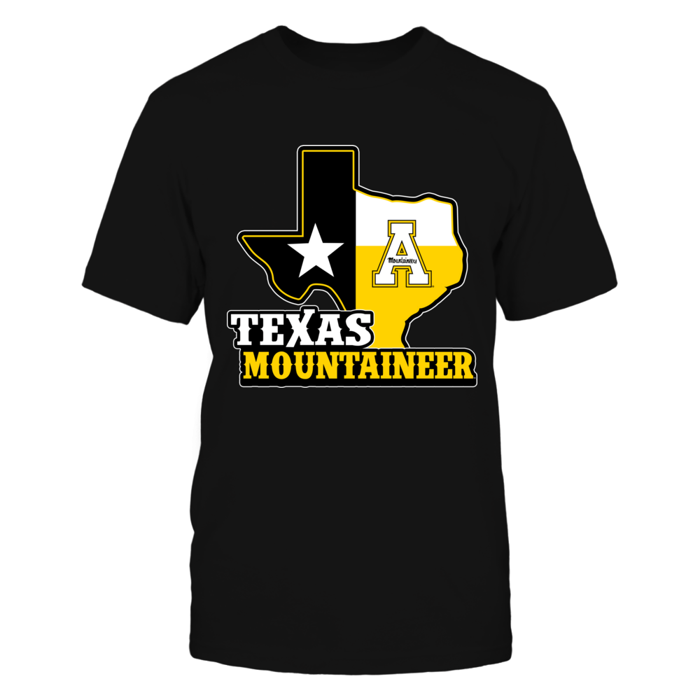Appalachian State Mountaineers -  Texas Map Mascot Front picture