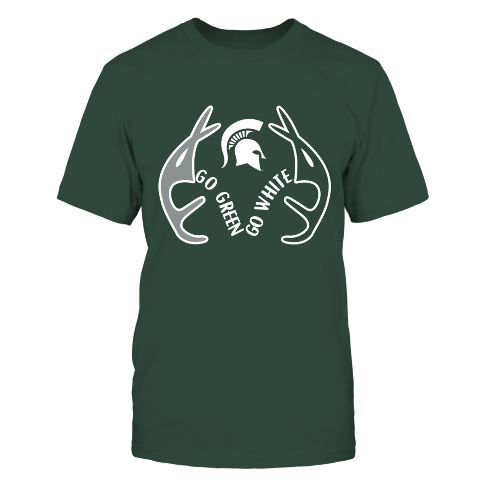 Michigan State Spartans -  Antler slogan Front picture