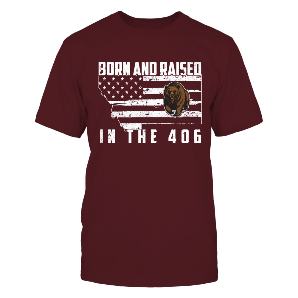 Montana Grizzlies - Born and Raised - Nation Flag Map Front picture