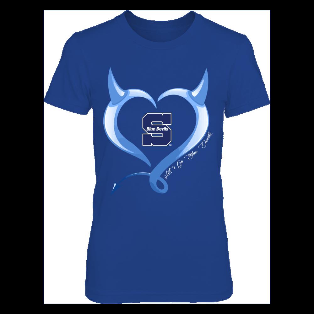 Wisconsin Stout Blue Devils - Devils Heart Front picture