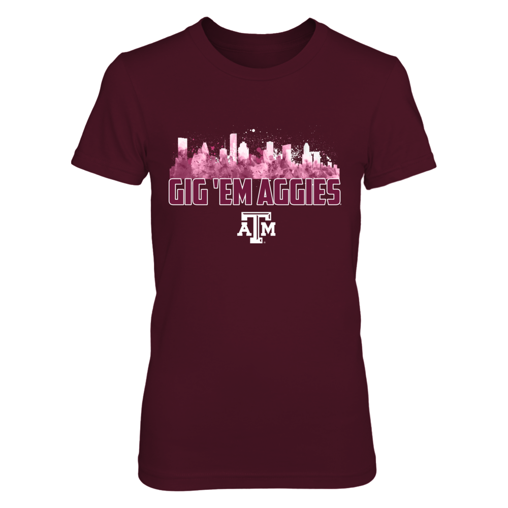 Texas A&M Aggies - Skyline Slogan Front picture