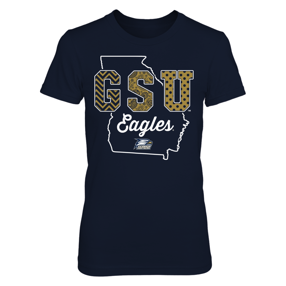 Georgia Southern Eagles - Patterned Letters - State Outline Front picture