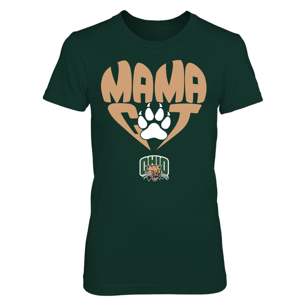 Ohio Bobcats - Mama Cat In Heart Shape - Paw Front picture