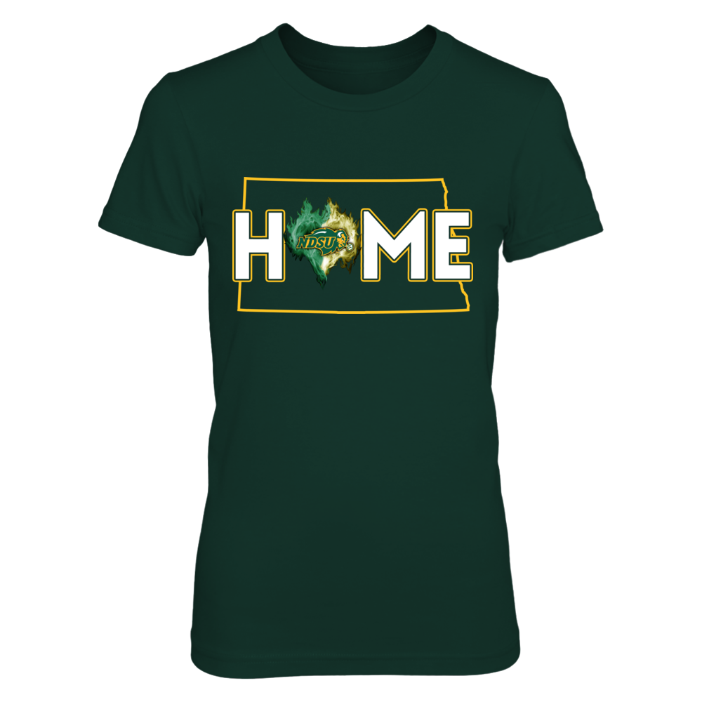 North Dakota State Bison - Home ice heart Front picture