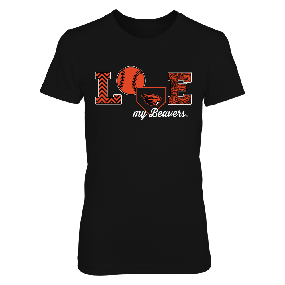 Oregon State Beavers - Love My Team - Baseball Symbol Front picture