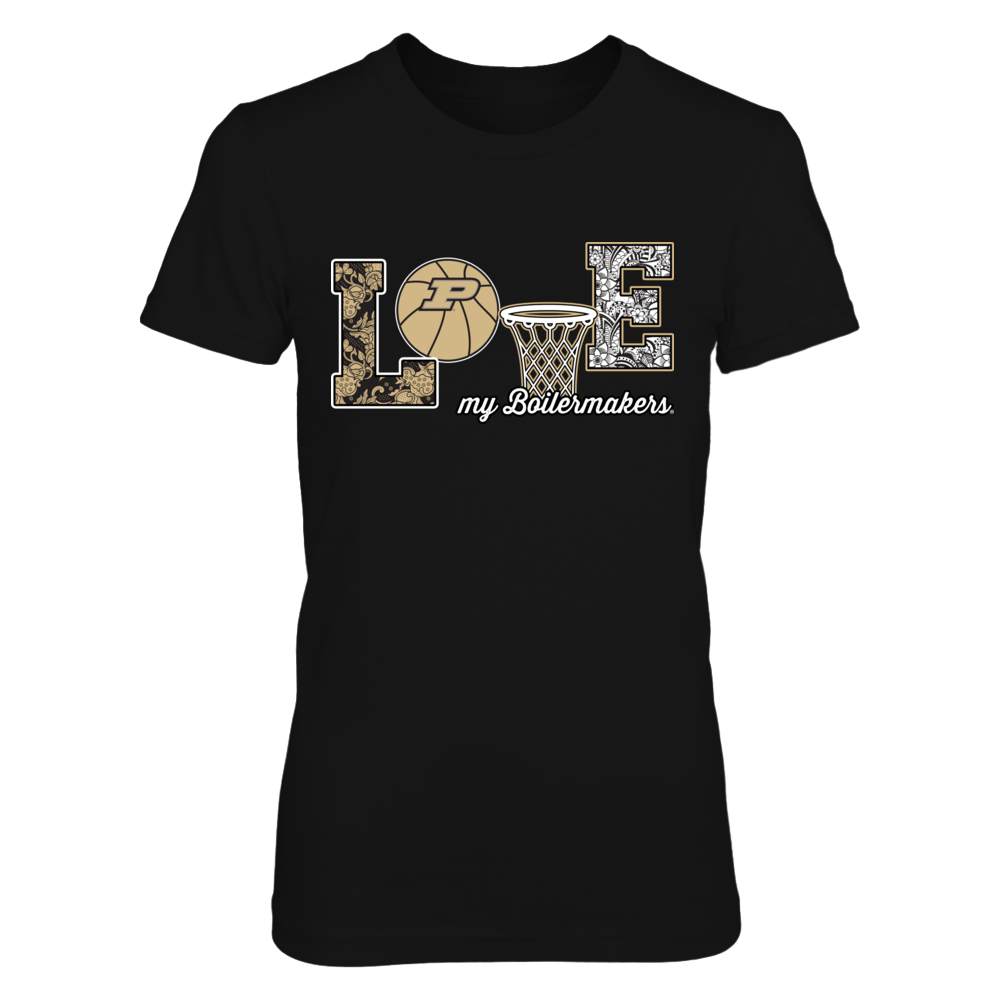 Purdue Boilermakers - Love My Team - Basketball Symbol Front picture
