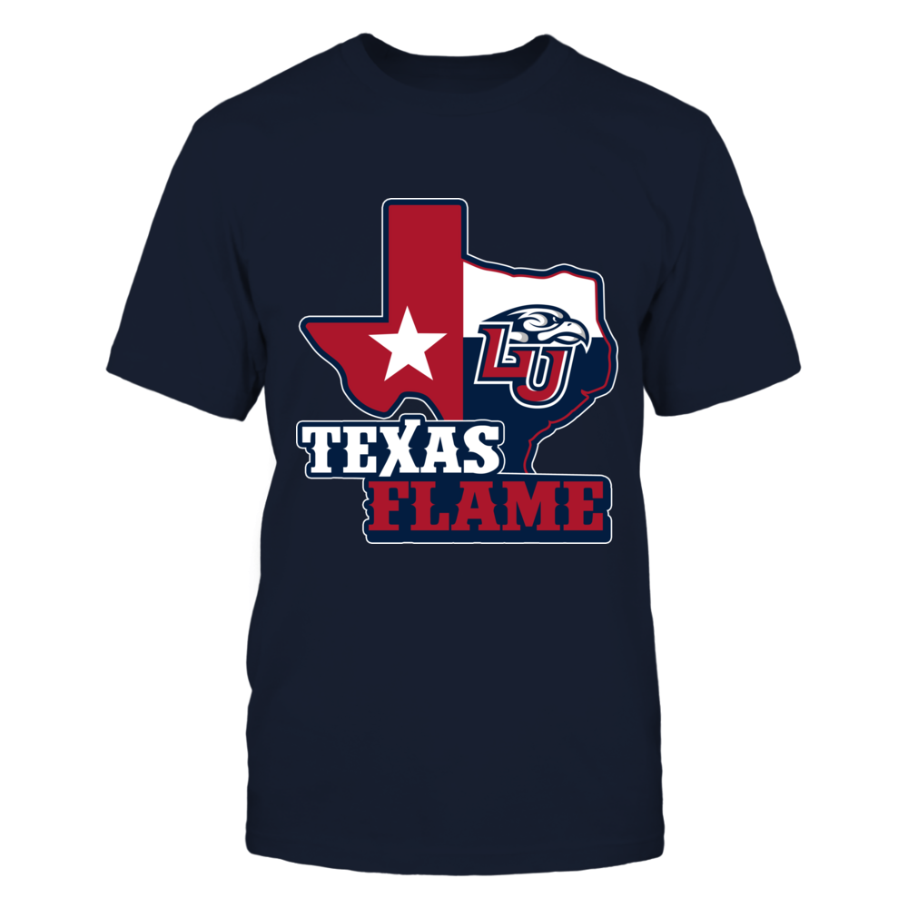 Liberty Flames - Texas Map Mascot Front picture