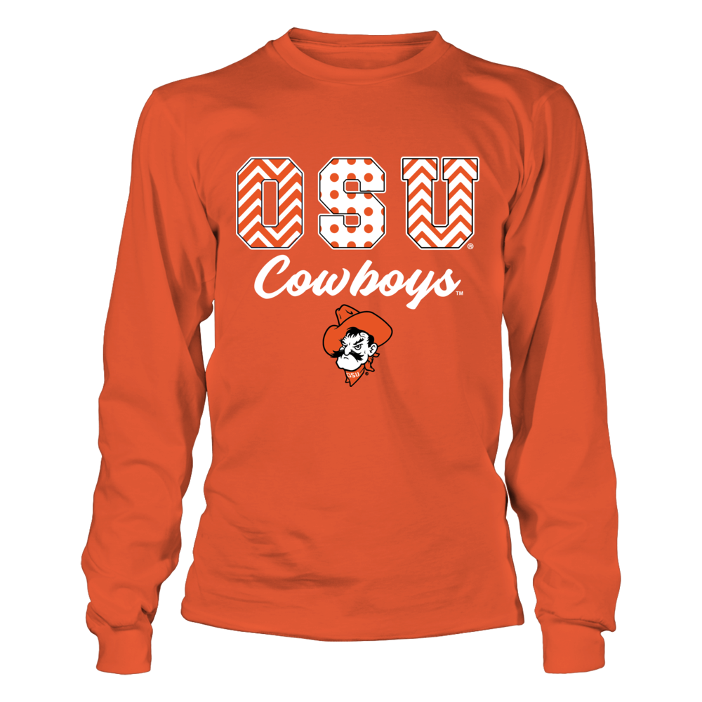 Oklahoma State Cowboys - Patterned Letters - IF-IC13-DS27 Front picture