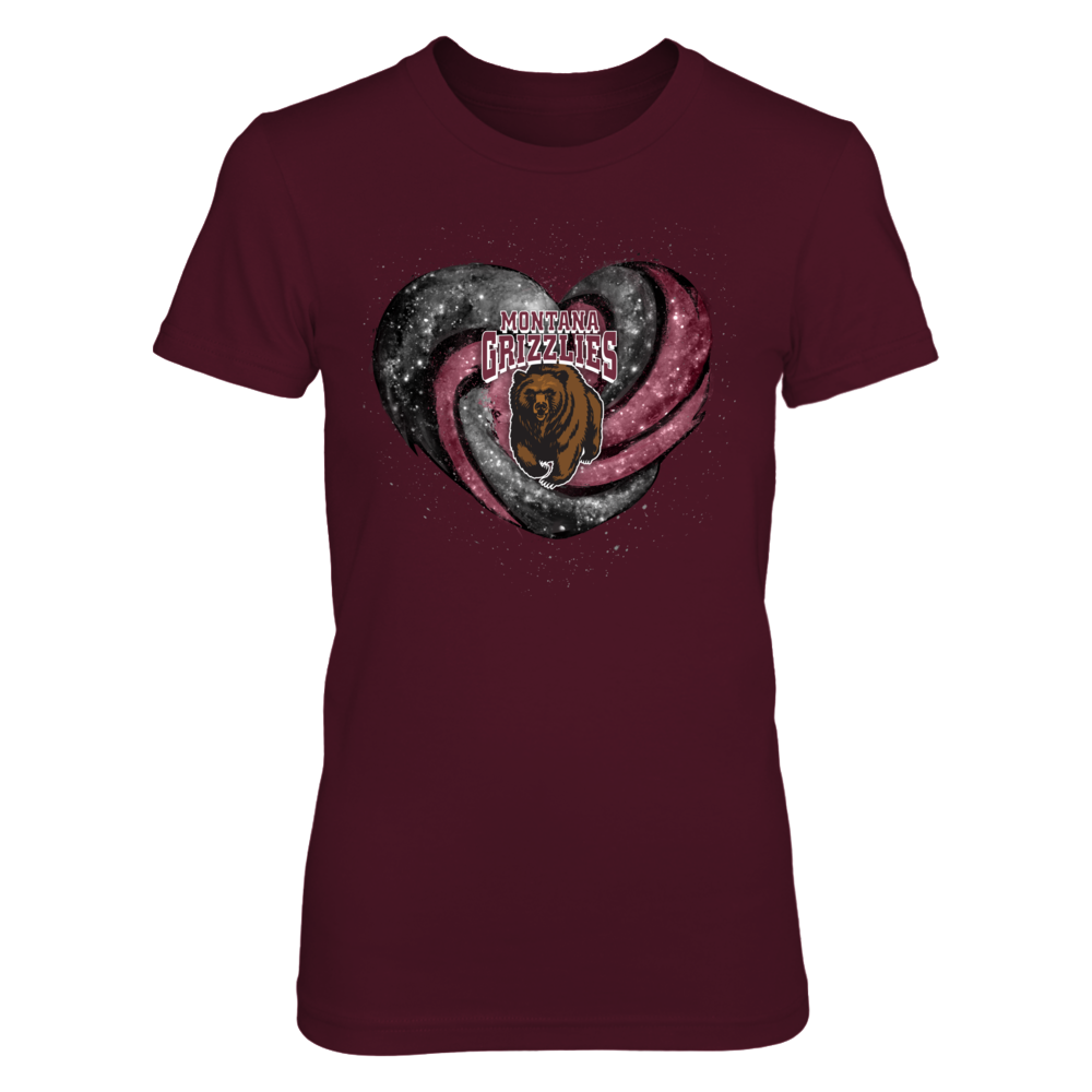Montana Grizzlies - Hurricane heart galaxy Front picture