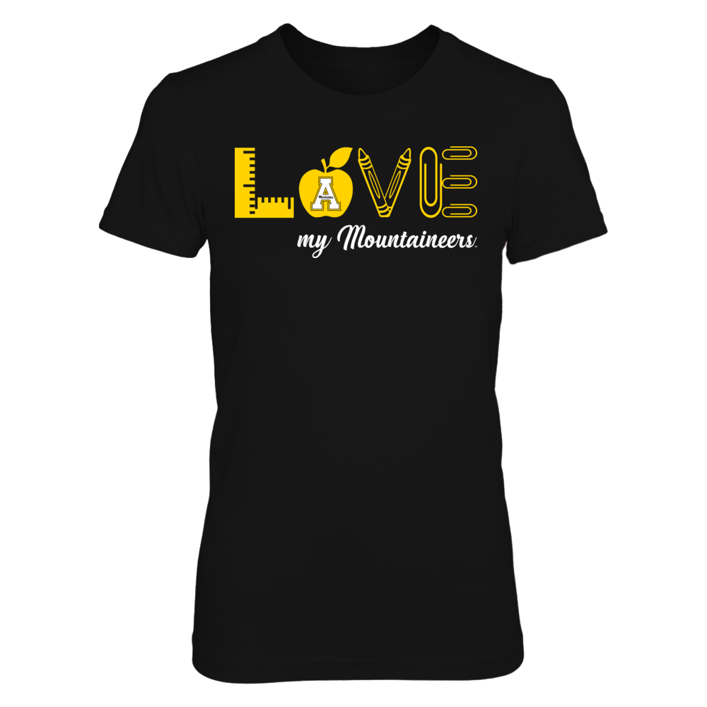 Appalachian State Mountaineers -  Love Teacher Front picture