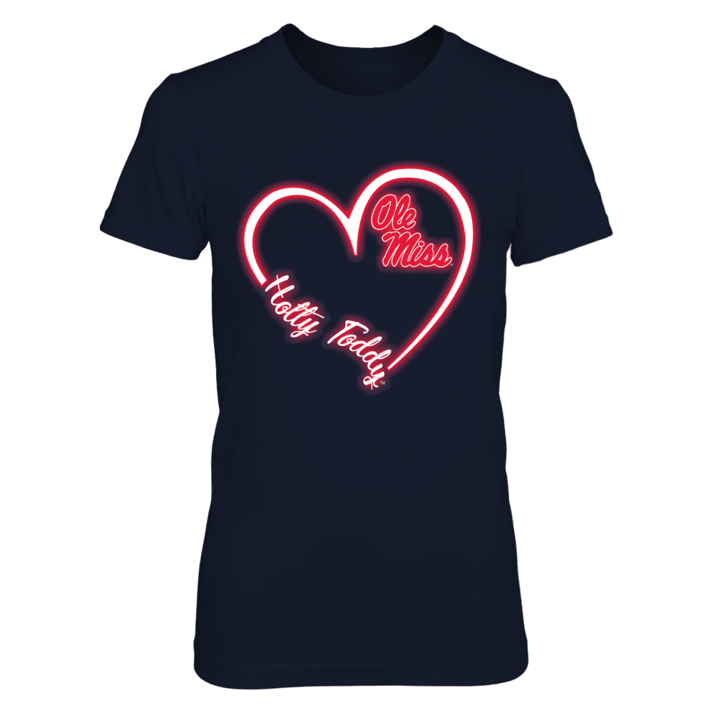 Ole Miss Rebels -  Heart 3/4 - Neon Light Front picture