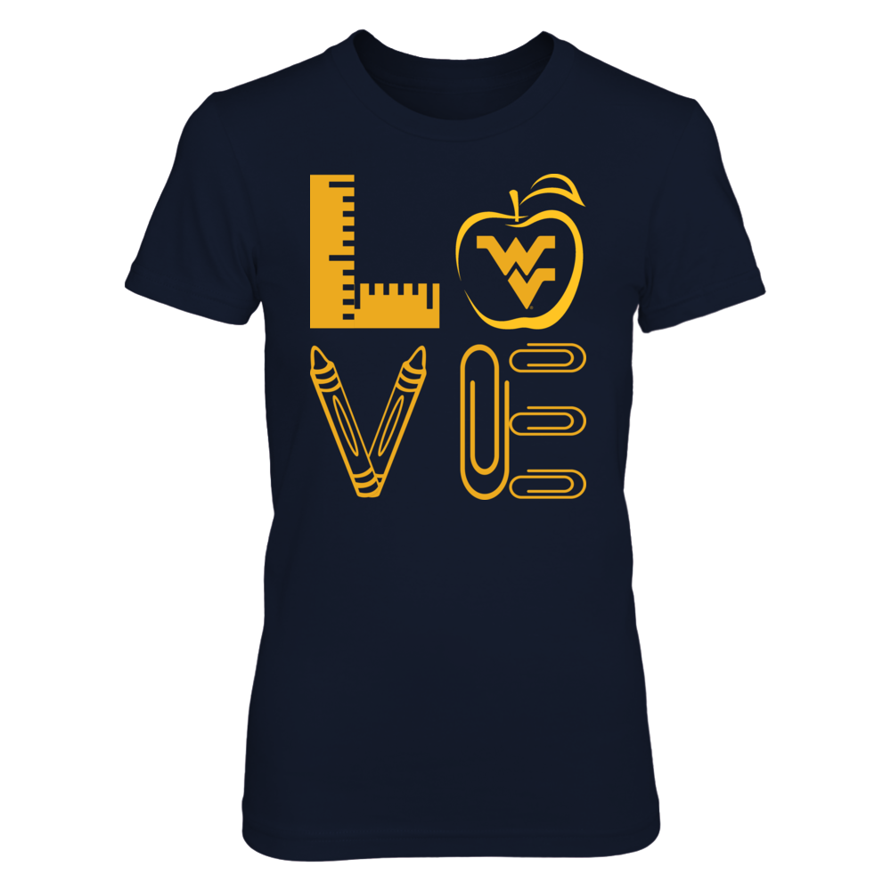 West Virginia Mountaineers - Stacked Love - Teacher Things - IF-IC13-DS75 Front picture