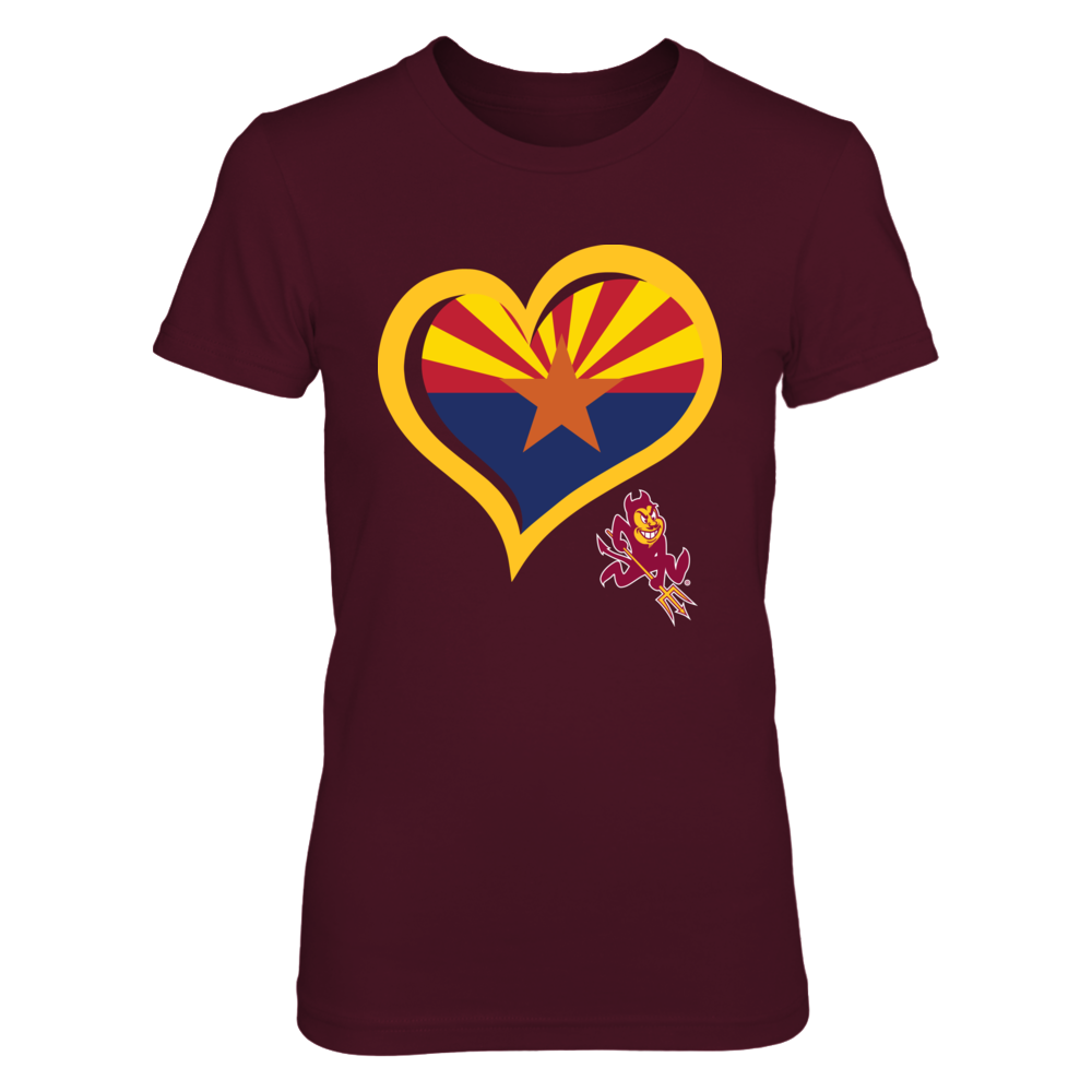 Arizona State Sun Devils - Heart State Flag Front picture