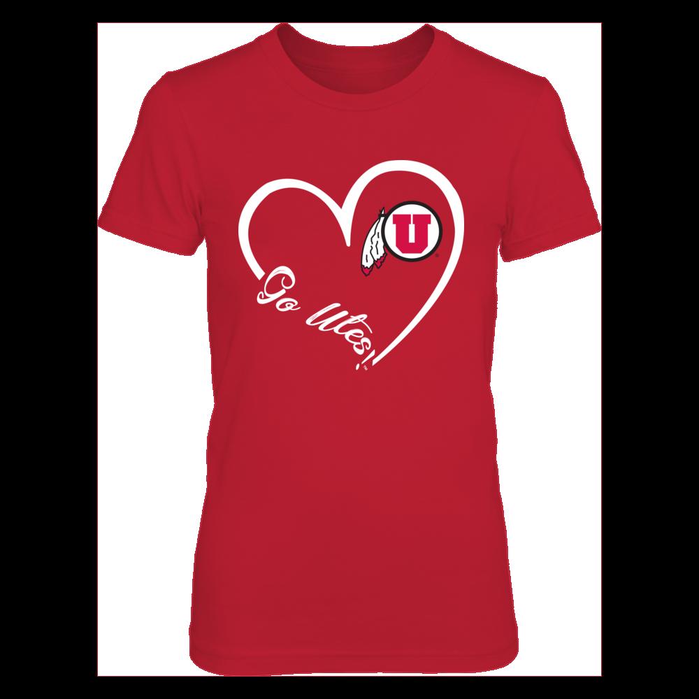 Utah Utes - Heart 3/4 - New slogan Front picture
