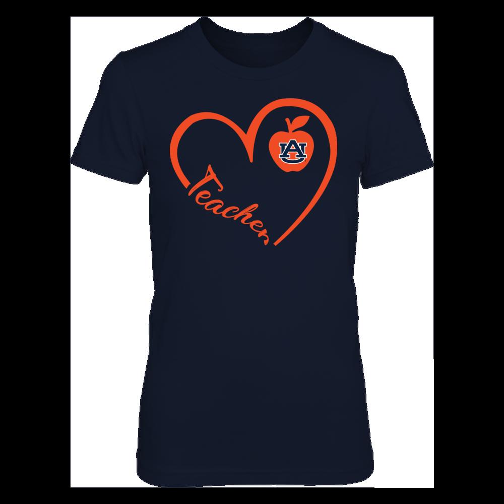 Auburn Tigers - Heart 3/4 - Teacher Front picture