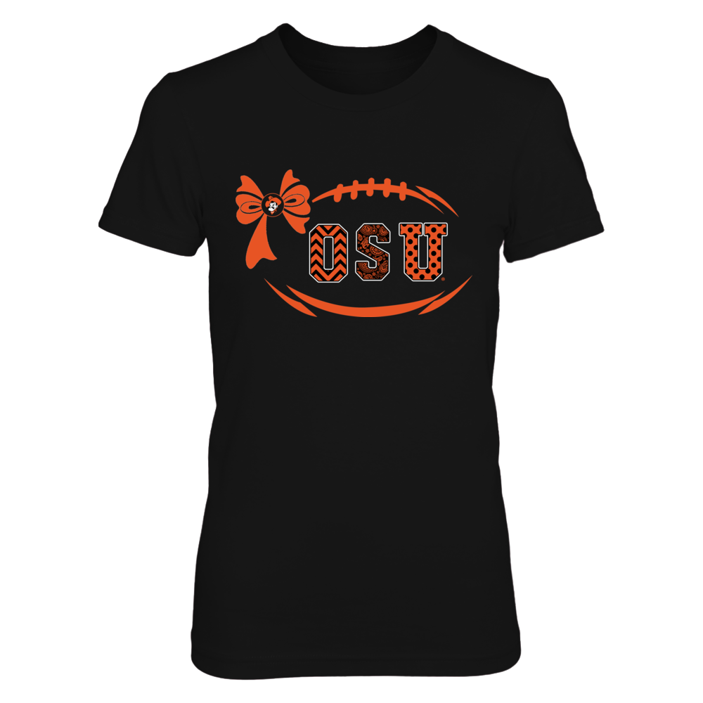 Oklahoma State Cowboys - Football Bow Patterned Letter Front picture