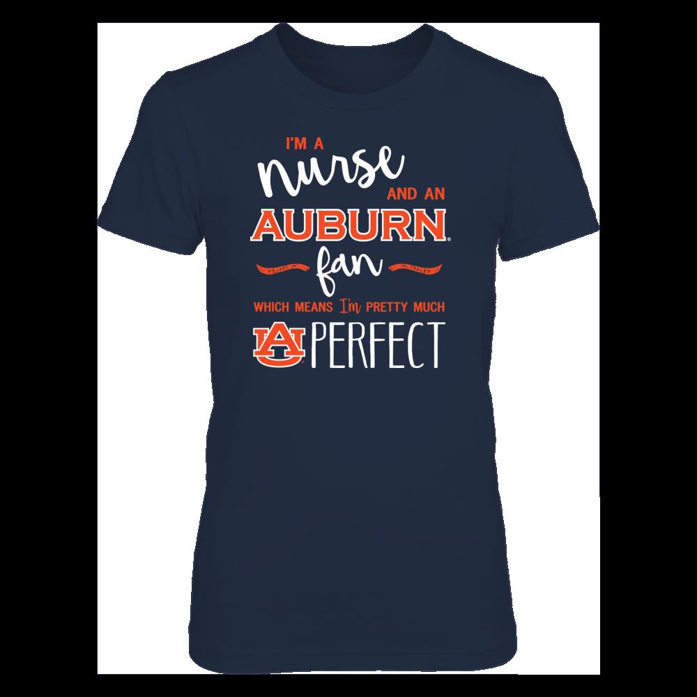 Perfect Nurse Auburn Tigers Fan T-Shirt | Tank Front picture