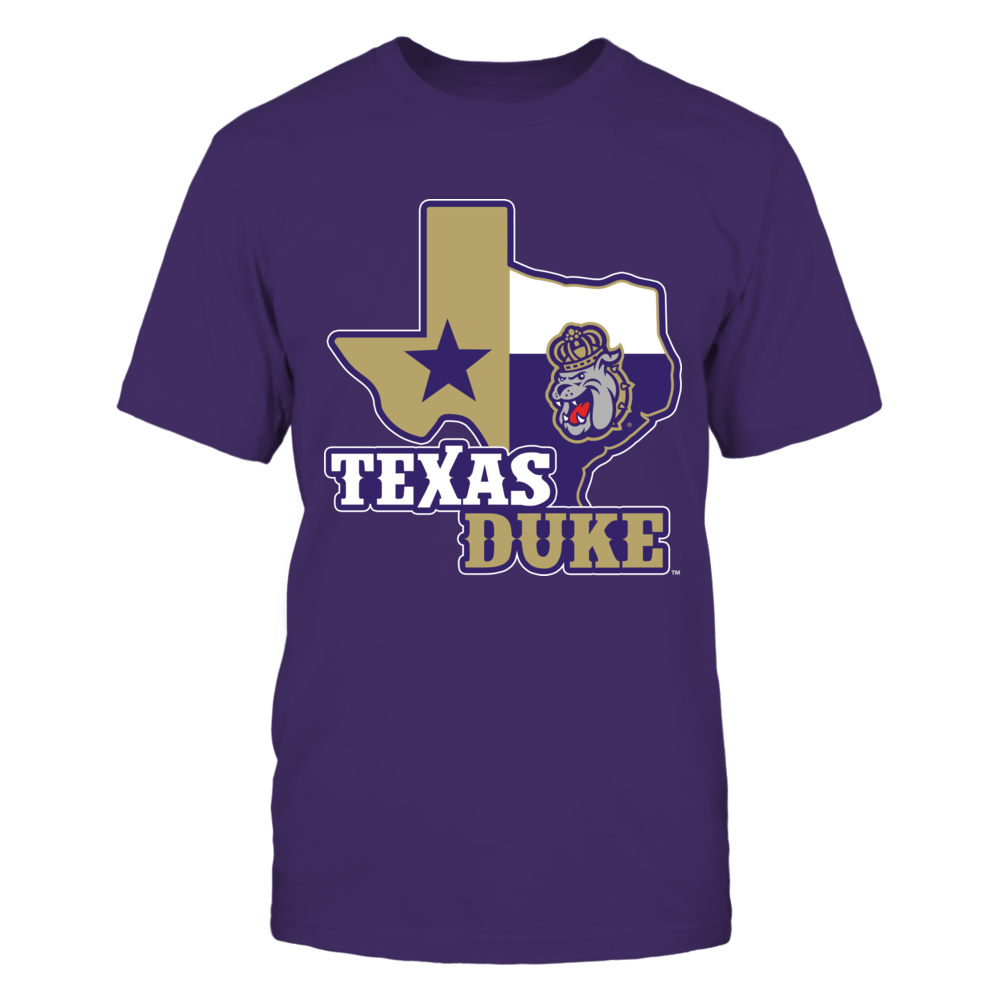 James Madison Dukes - Texas Map Mascot Front picture