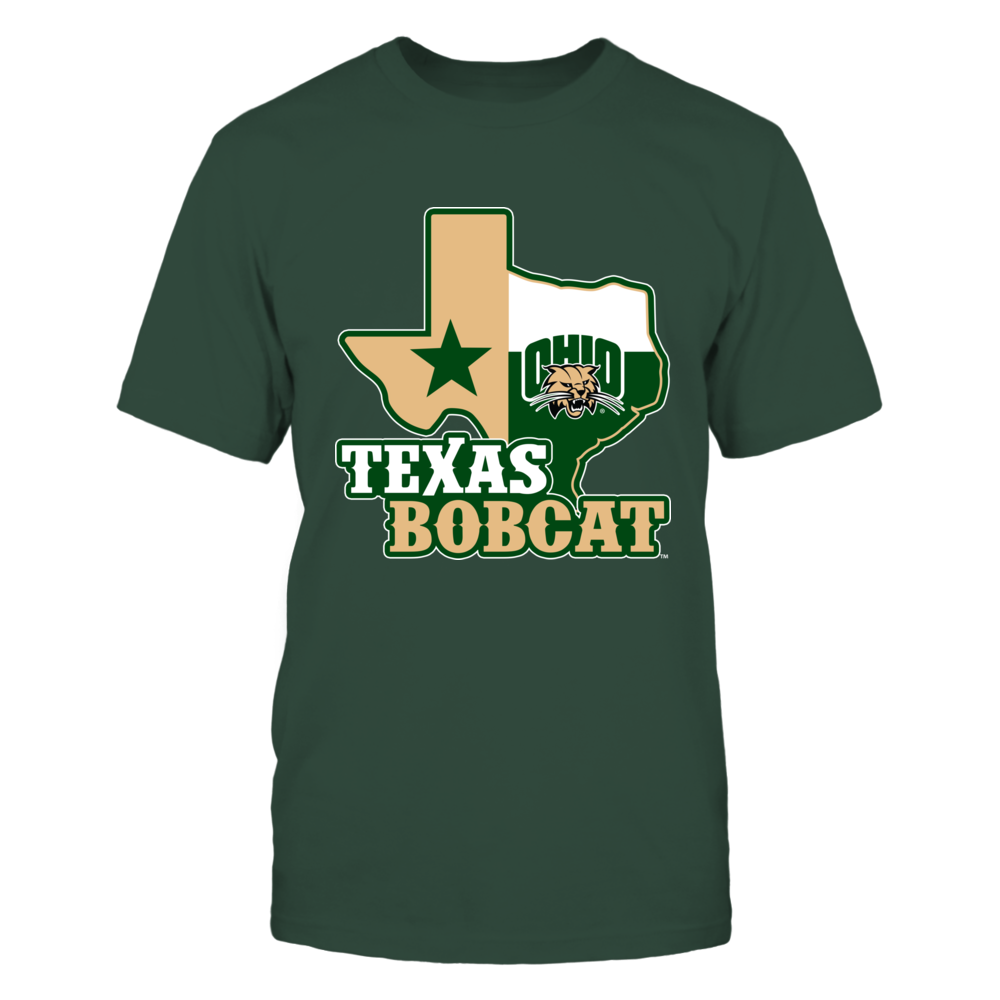 Ohio Bobcats - Texas Map Mascot Front picture
