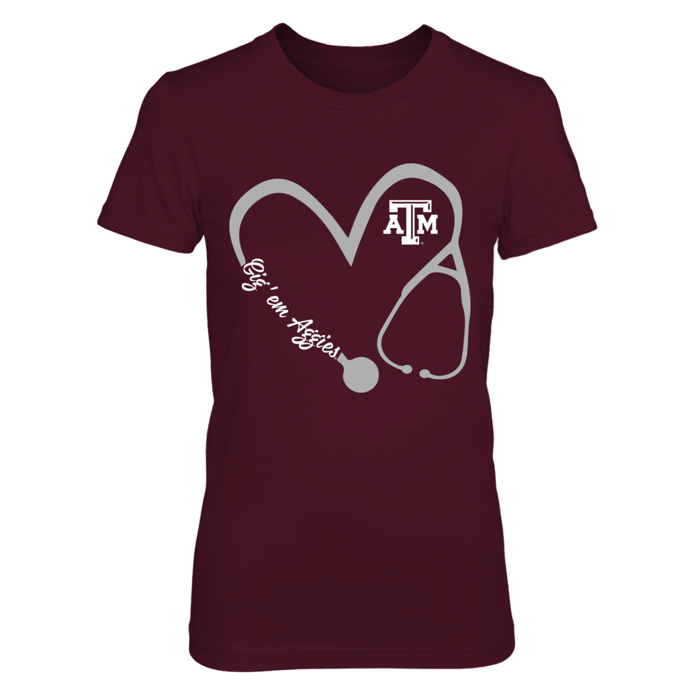 Texas A&M Aggies - Heart 3-4 - Nurse - IF-IC17-DS27 Front picture