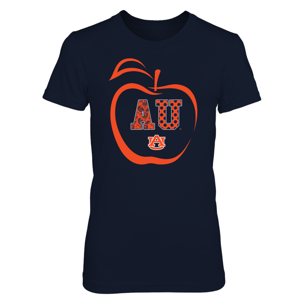 Auburn Tigers - Apple Outline - Patterned Letters Front picture