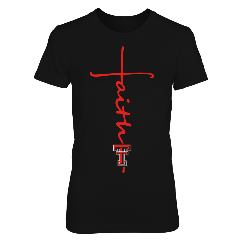 Texas Tech Red Raiders - Faith In Cross Shape Front picture